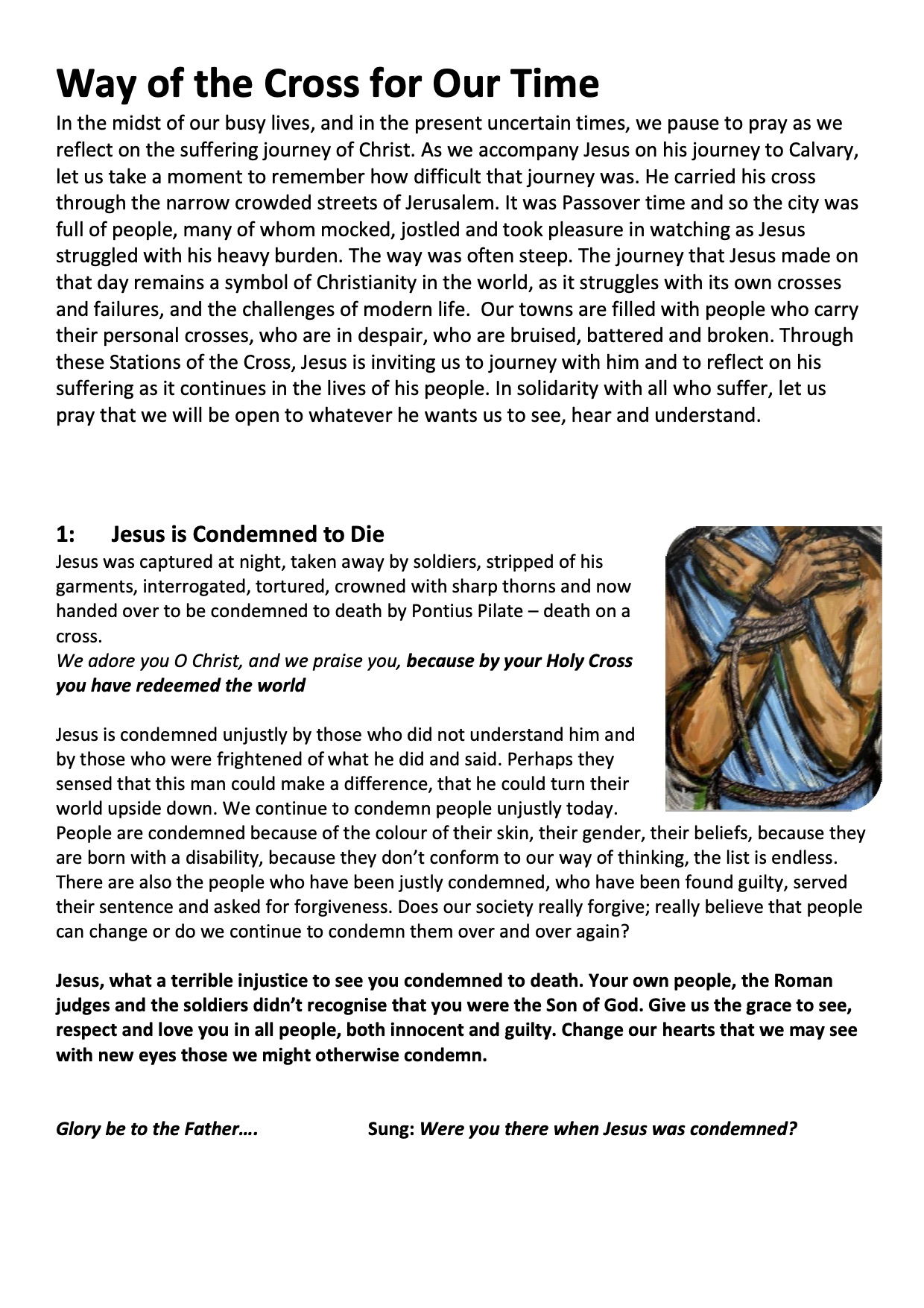 Station of the cross PDF download image
